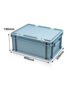 Euro box with hinged lid