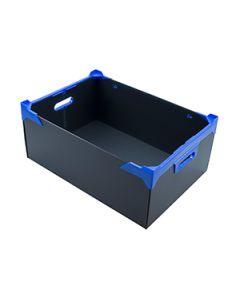 Black Corrugated Plastic Boxes 510 x 350 x 200mm