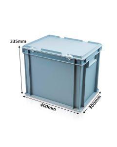 Lidded Euro Crate L400xW300xH335mm