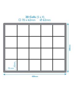 Euro Box For Glassware - 20 Cells
