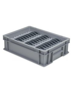 Small Slotted Plate Storage Box