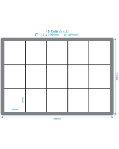 PP Dividers For Euro Containers - 15 Compartments