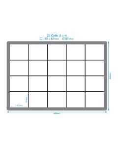 Dividers For Euro Containers - 20 Compartments