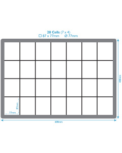 Polypropylene Inserts For Euro Containers - 28 Compartments