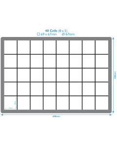Plastic Inserts For Euro Containers - 40 Compartments