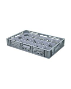 Glassware crate with removable inserts