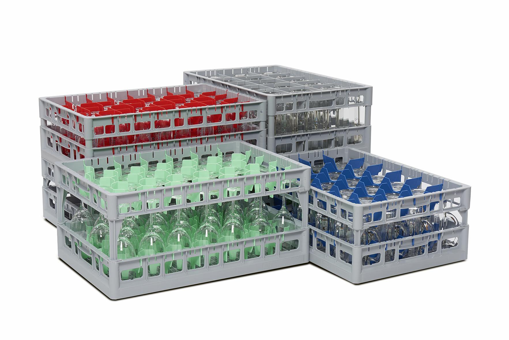 conveyor glass racks