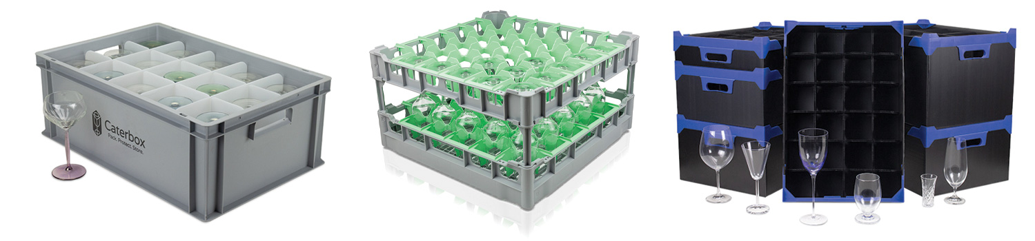 Glassware Storage Boxes from Caterbox
