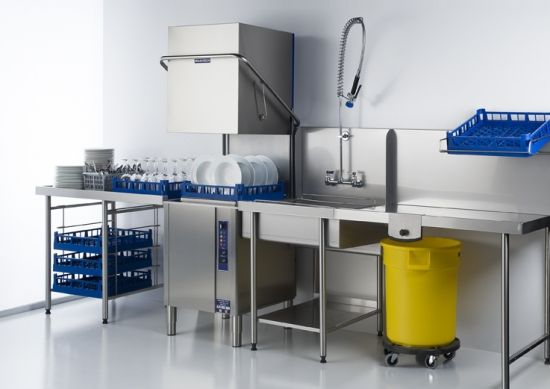 How to set up an efficient ware washing area.