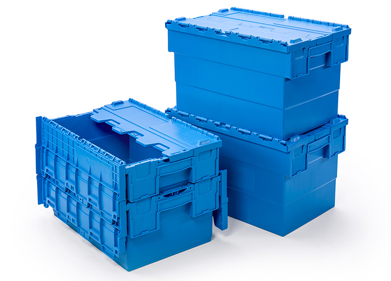 Attached Lid Container ALC Nest stacking boxes