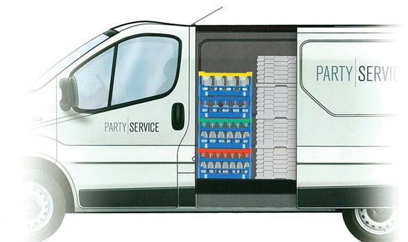 glassware delivery service.