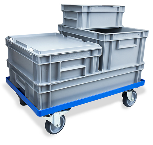 Stacking Euro Boxes with Trolley